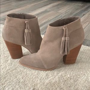 Sole society Talisha booties with fringe detail